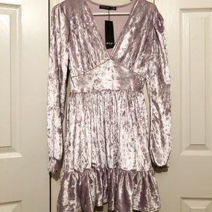 Nasty Gal Lavender Velvet Dress